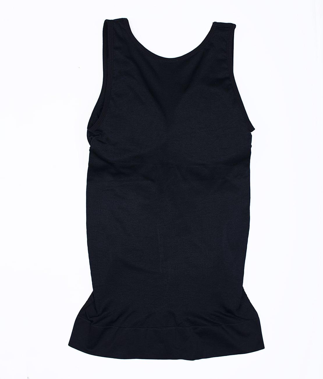 T Shirt Amincissant Noir Packshot Back