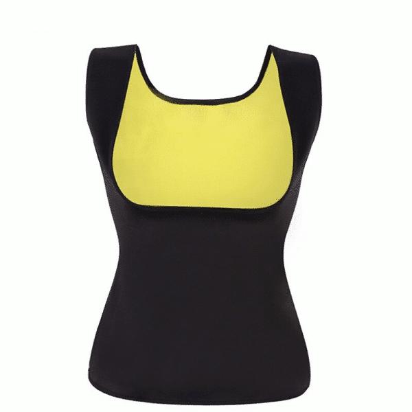 t shirt sudation noir jaune