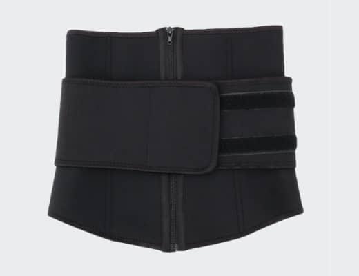 ceinture de sudation multisport noire detail