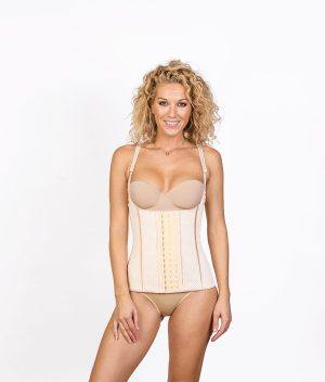 Corset Latex Grand Confort Beige Face