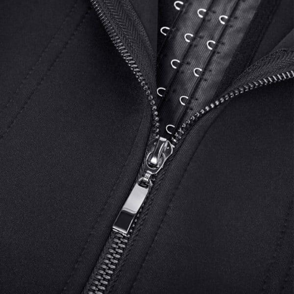 corset latex noir fermeture