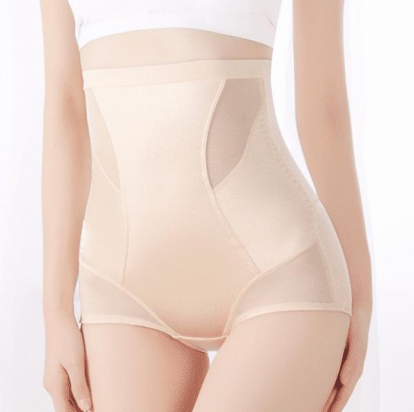culotte gainante soyeux beige