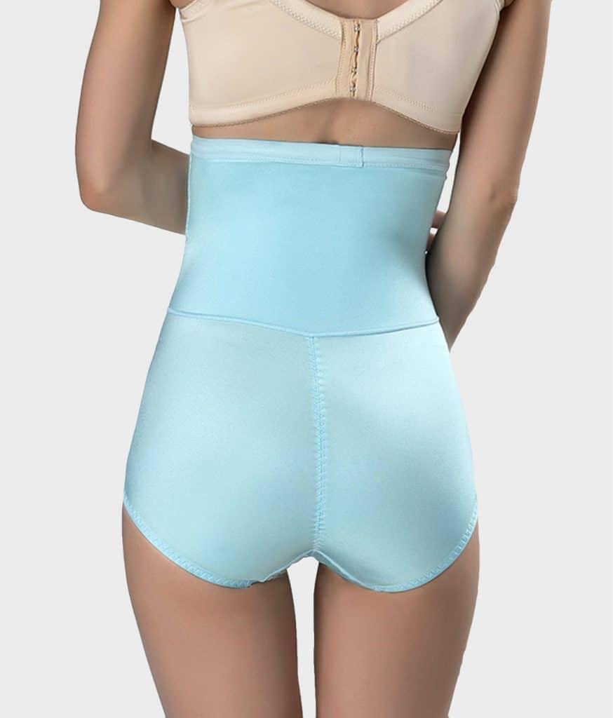 Culotte gainante soyeuse bleu