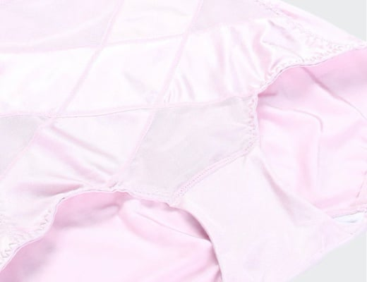 culotte gainante soyeuse rose 520 detail