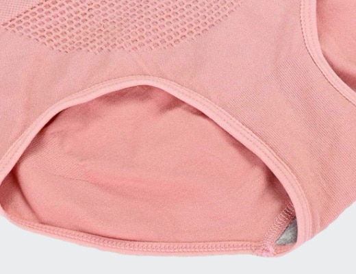 Culotte Taille Haute rose 520 detail