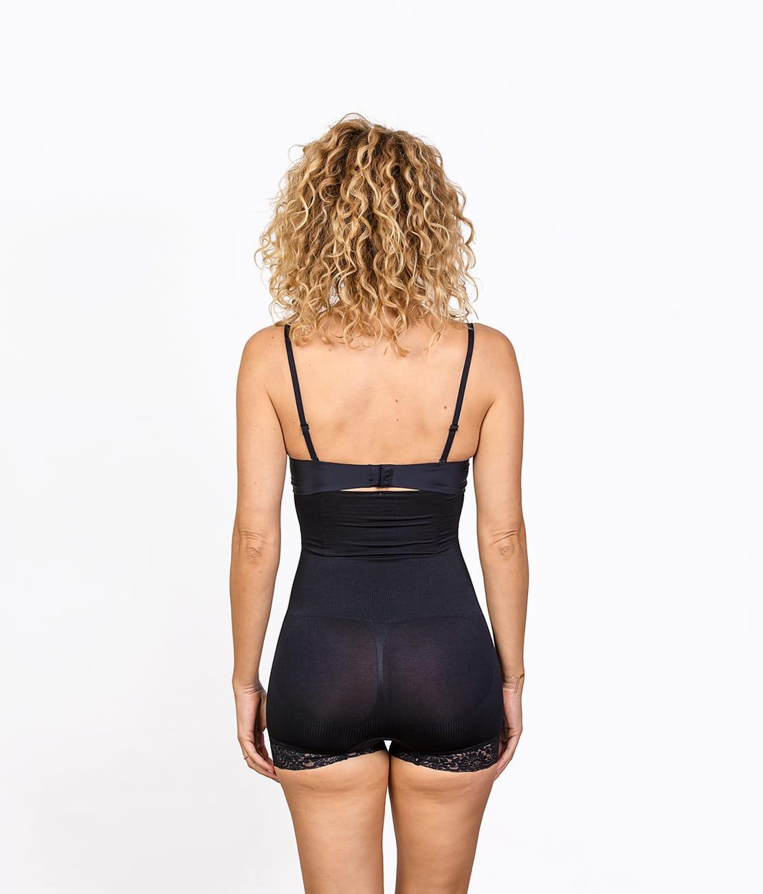 Panty Taille Haute Noir Dos