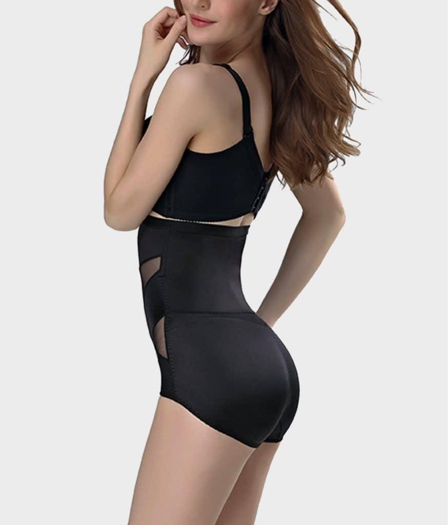 Culotte gainante soyeuse noir