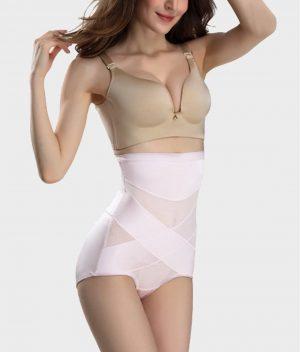 Culotte gainante soyeuse rose