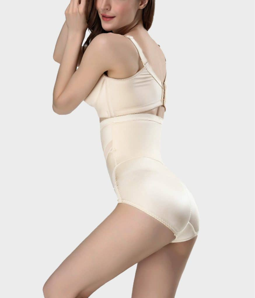 Culotte gainante soyeuse beige