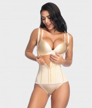 Corset latex grand confort beige