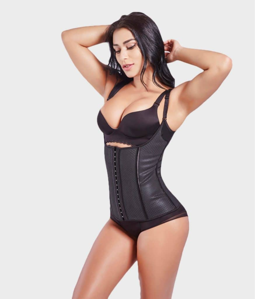 Corset latex grand confort noir