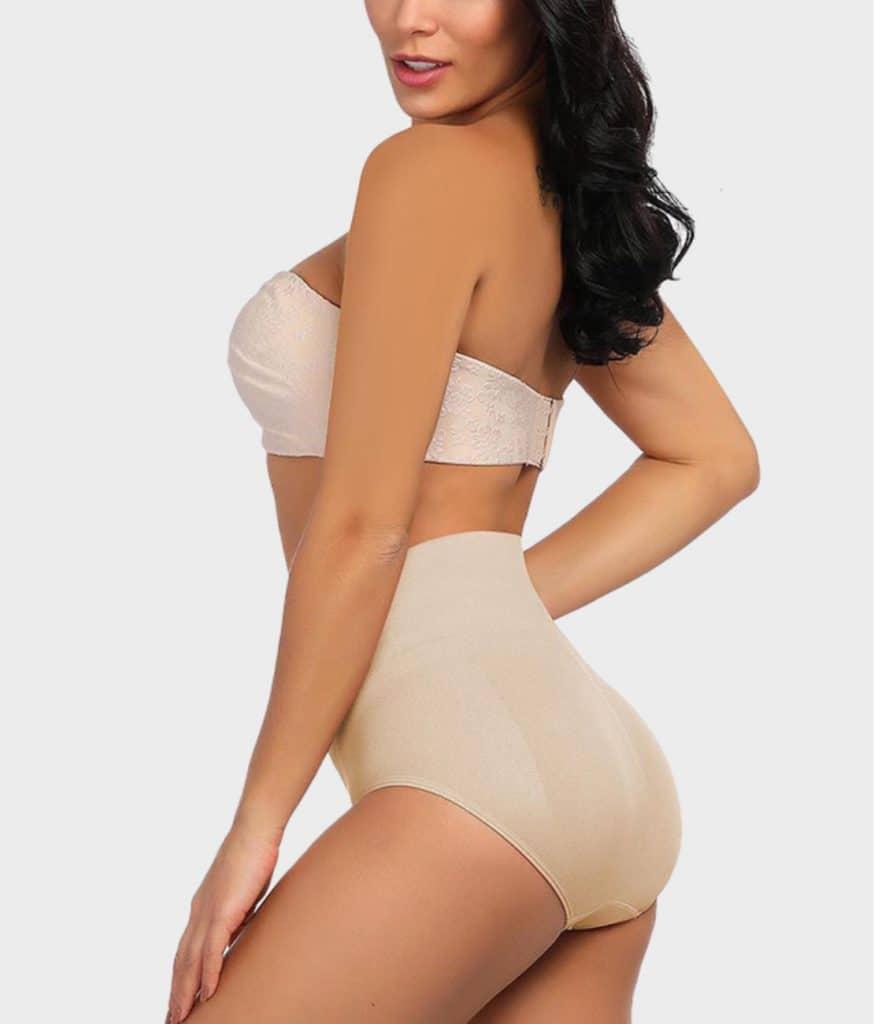 Culotte taille haute beige