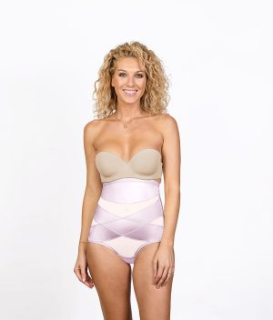 Culotte gainante soyeuse Rose Face