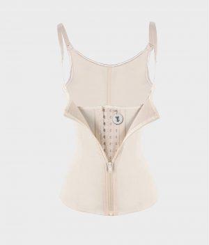 corset latex remodelant beige front logo