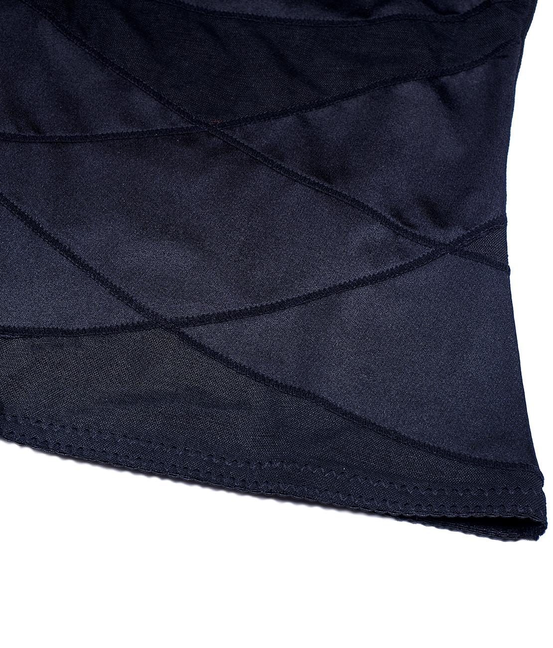 Gaine Ventre Plat Invisible Noire Packshot Detail 1