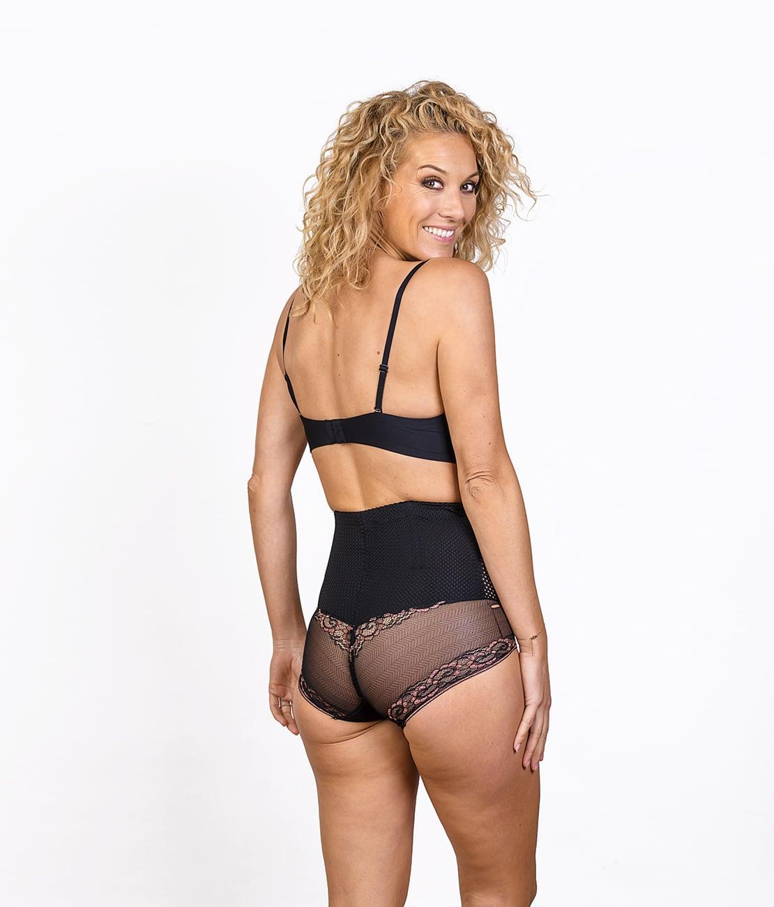 Shorty Gainant Sexy Noir Trois Quart Dos